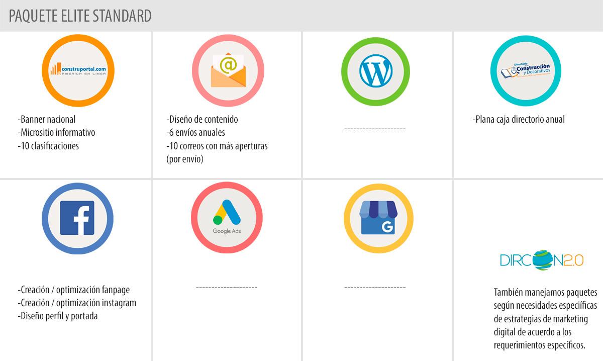 Beneficios que incluye el paquete standardPaquete Standard